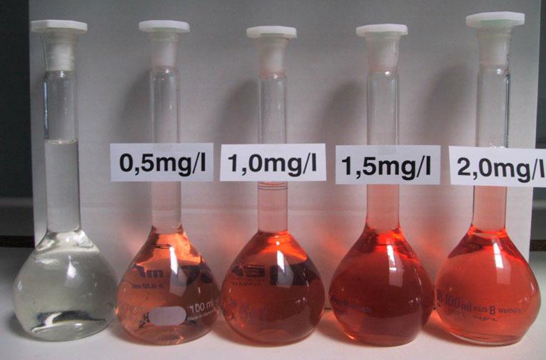 Konzentrationsbestimmung, photometrische Analyse von Eisengehalt